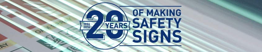 WE'RE CELEBRATING 20 YEARS OF PRINTING AND MAKING SAFETY SIGNS