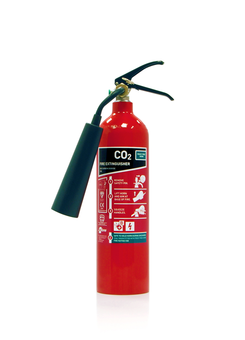 2kg CO2 extinguisher w/frost free horn