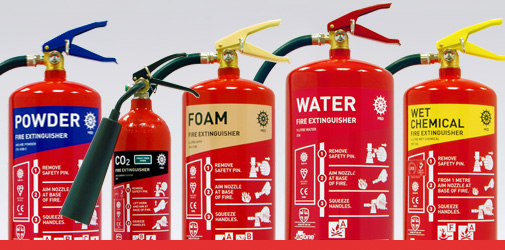 MED range fire extinguishers
