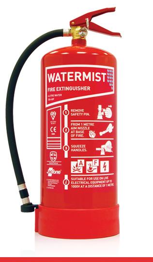 6 litre water mist fire extinguisher