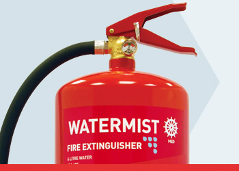 Watermist MED Range Fire Extinguishers