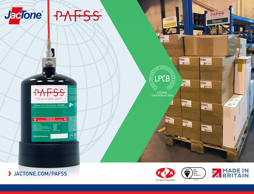PAFSS Fire Suppression Systems for Electrical Enclosures