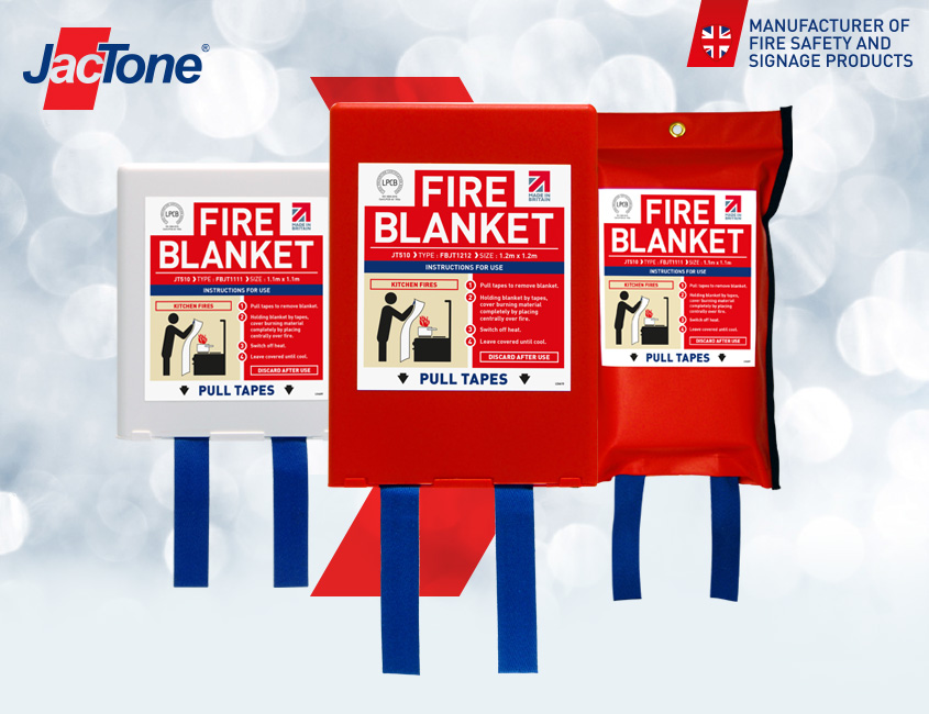 Jactone Fire Blankets certified to BS EN 1869:2019