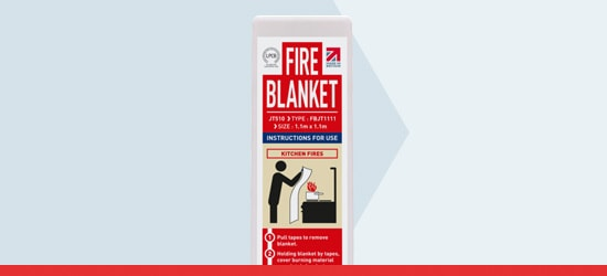 Square Pack Fire Blanket