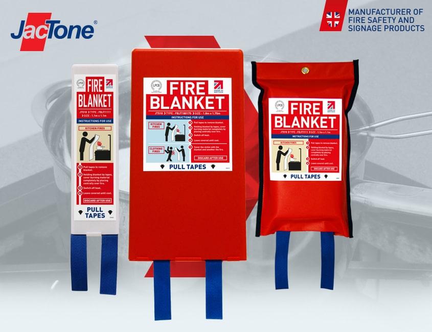 Jactone Fire Blankets certified to BS EN 1869:2019