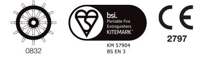 Powder Fire Extinguisher Marine Range Certification