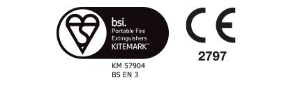 Powder Fire Extinguisher Premium Range Certification