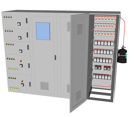 PAFSS Electrical Fire Suppression System for Electrical Panels, Enclosures and Cabinets
