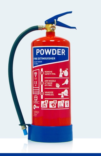 Fire Extinguisher Types and Colours - Powder