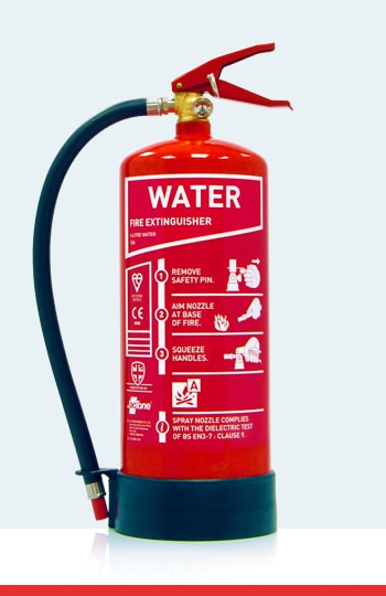 Fire Extinguisher Types and Colours - Water