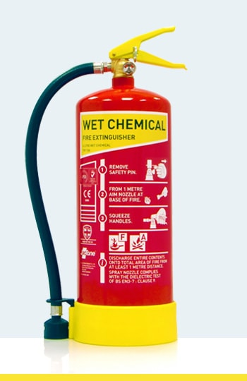 Fire Extinguisher Types and Colours - Wet Chemical