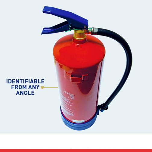 Fire Extinguisher Colour Coding from any angle