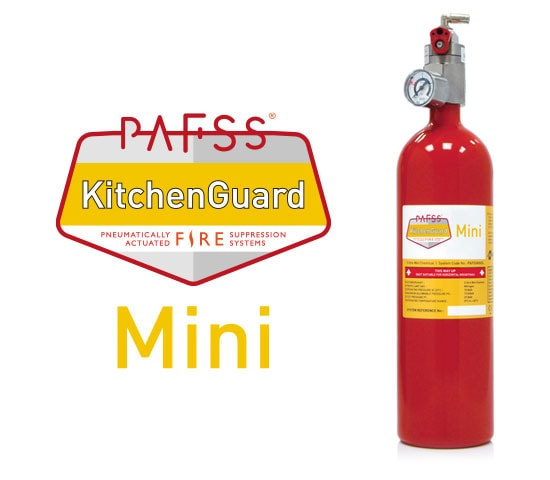PAFSS KitchenGuard Mini Residential Kitchen Fire Suppression System