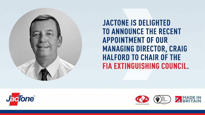 Jactone MD elected FIA extinguishing council chair