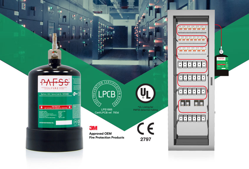 PAFSS Electrical Fire Suppression Systems using 3M Novec 1230 Fluid